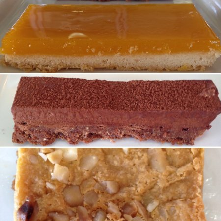 Short & Sweet Bakery & Cafe: Lilikoi Bar, Kohala Crunch Bar, Hilo Bar