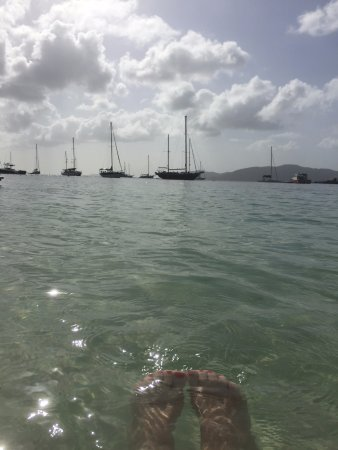 Water Island, St. Thomas: Feet in the water of the best little beach in the USVI