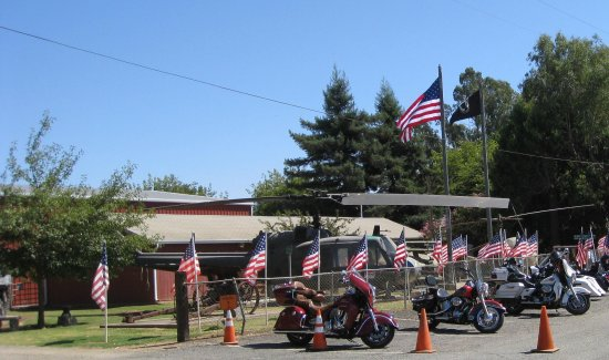 Marysville, CA: Front of Museum with Huey on Display