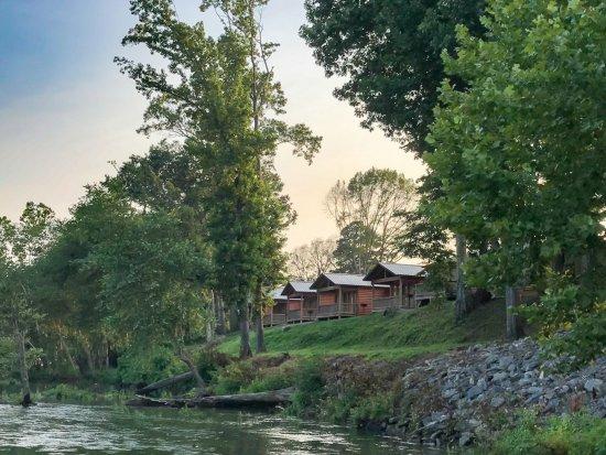 Swinging bridge trout dock