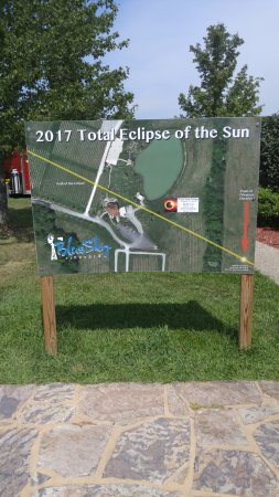 """Makanda, IL: Photo of the point of """"Longest Duration"""" for the eclipse."""