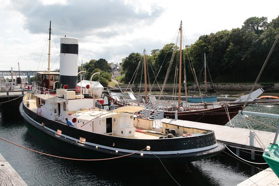 Douarnenez, France: One of the boats to visit as part of the museum visit