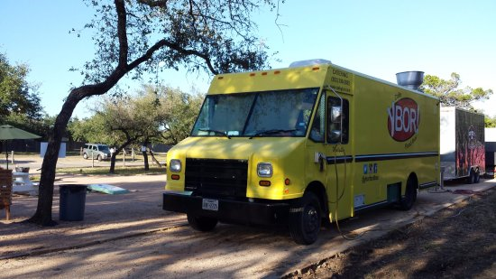 Buda, TX: Cedar Valley Eats food truck park on Nutty Brown Rd