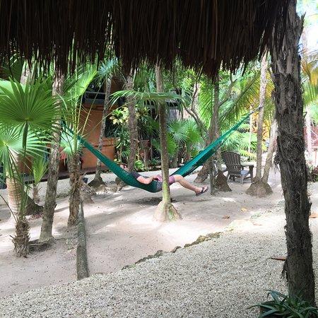 Las Palmas Maya: Relaxing for a moment.