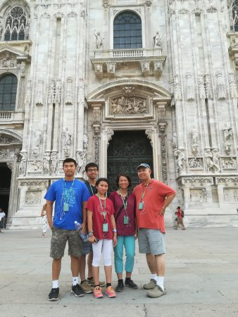 Tours of Milan Private Tours: In Front of Duomo di Milano