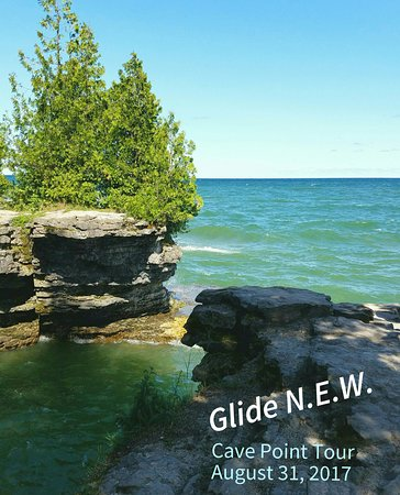 "Ellison Bay, WI: Cave Point - Lake Michigan & the stone ""cliffs"" were just spectacular!"