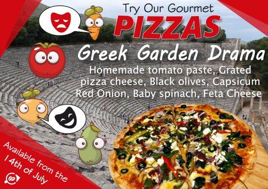 Kingston, New Zealand: Our Gourmet Vegetarian Pizza