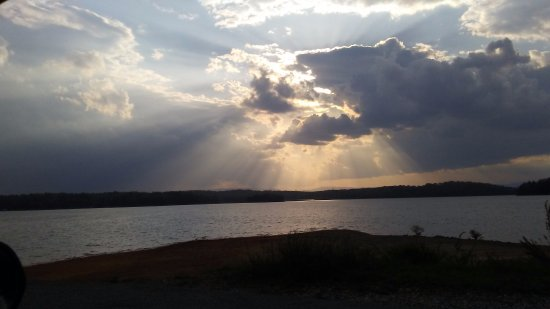 Morganton, GA: Sunset on the Lake