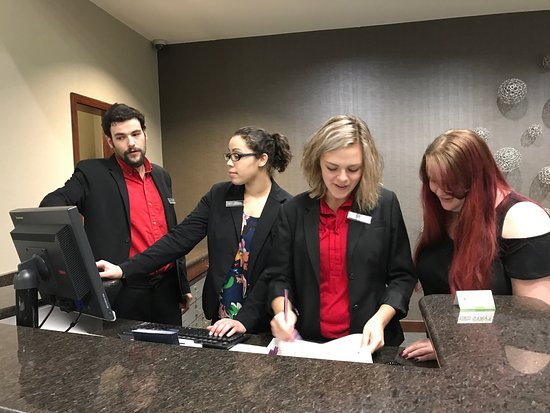 Residence Inn Harrisonburg: This is a photo of the amazing staff here. They are the primary reason I have chosen to stay her