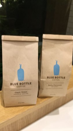 ブルーボトルコーヒー品川カフェ, 豆の入った袋。鞄の中がいい香りになった。