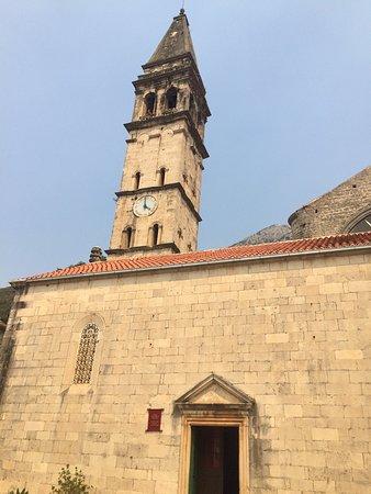 Kotor, Montenegro: Bell tower in Perast
