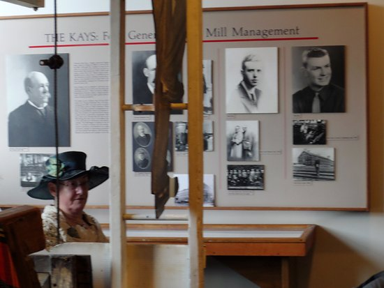 "Salem, OR: docent tour guide, ""Fanny Kay"" with pictures of her ""family."""