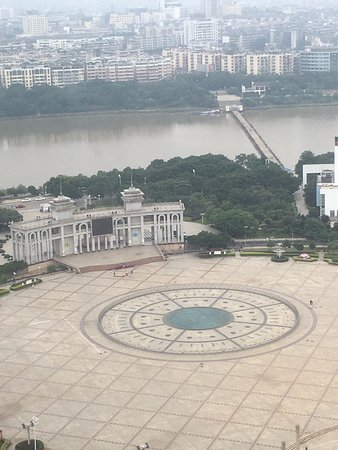 Ganzhou, Çin: View from the room, Golden Square and Pontoon Bridge