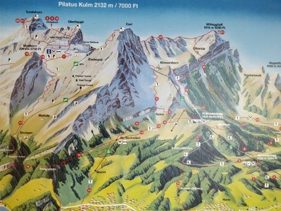 Map Picture of Mount Pilatus Lucerne TripAdvisor