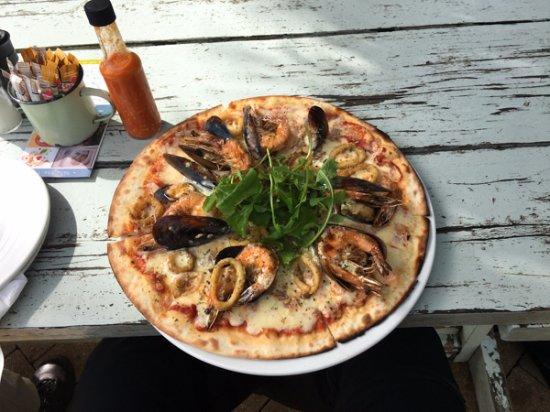 Kommetjie, Южная Африка: Seafood pizza