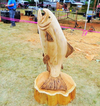 Chainsaw carving competition picture of art walk hope tripadvisor