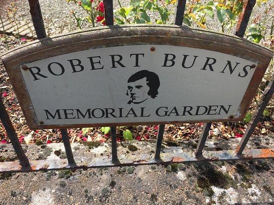 The Burns Memorial garden