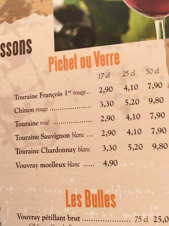 Restaurant Anne de Bretagne: Boissons