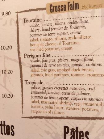 Restaurant Anne de Bretagne: Menu