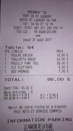 Rony 39 s fils saint laurent du var restaurant avis - Restaurant port de saint laurent du var ...