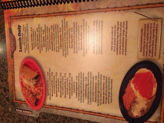 La Plata, MD: lunch menu