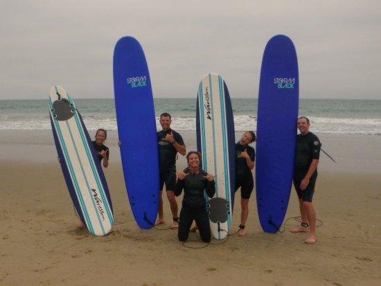 Manhattan Beach, CA: Four new bonafide surfers!