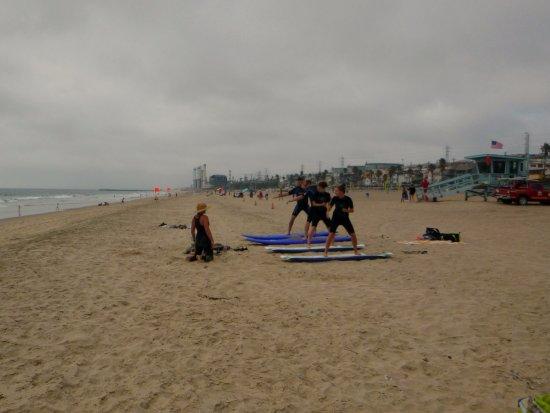 Manhattan Beach, Californie : Practice makes perfect.