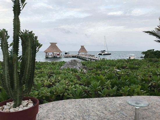 Zoetry Paraiso de La Bonita: View of marina from beach restaurant