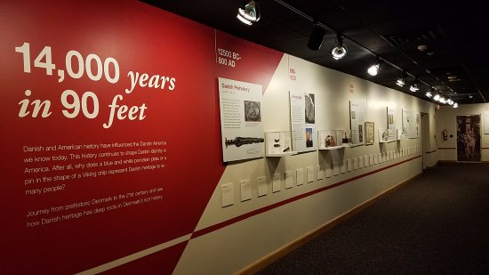Elk Horn, IA: Part of the timeline on the lower level