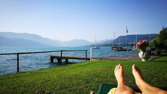 Seewalchen am Attersee, Austria: Hoteleigener Badeplatz