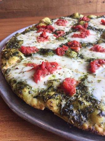 Crystal Lake, IL: Pesto Margherita with homemade fresh mozzarella and Pomodoro tomatoes