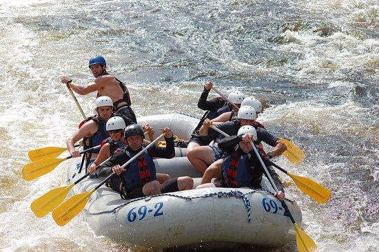 Penobscot Adventures Whitewater Rafting: Everyone paddling
