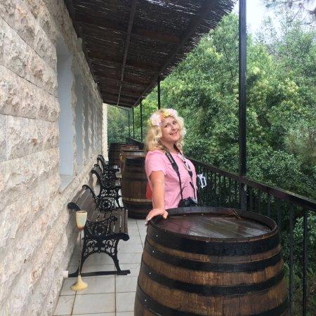 Lambouri Winery: Балкон