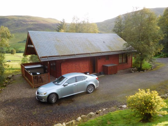 Kirriemuir, UK: Ogilvie Lodge with stunning view