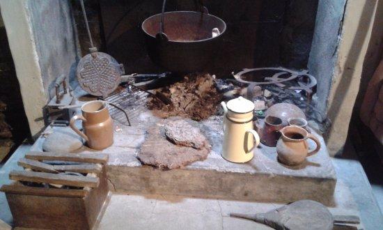 Sallertaine, Prancis: l'âtre devant lequel Rosalie se chauffait ou cuisait son pain...