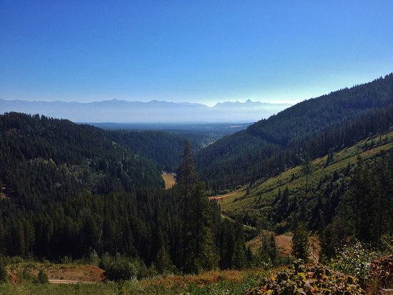 "This is one of the spots for our ""View of the Rockies"" ride.  Little smoky, but otherwise beauti"