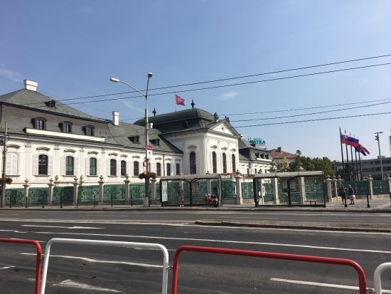 Grassalkovich Presidential Palace: A view of the palace from across the road.