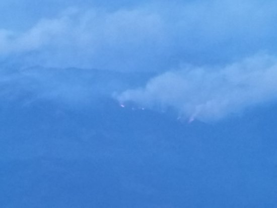 Alaska Airlines: Forest Fires in Montana as seen from plane.