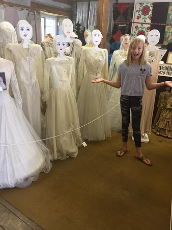 Renfrew, Canada: All those weddings dresses over 100 yrs old....Emilie was so happy to see them!