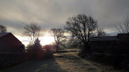 The Wheatsheaf, Carperby, Wensleydale: View from front door