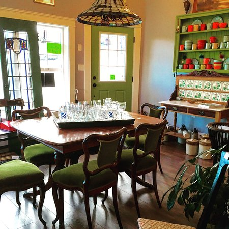 Antique Addict, Ladysmith BC interior shop shot. Professionally restored furniture and collectab