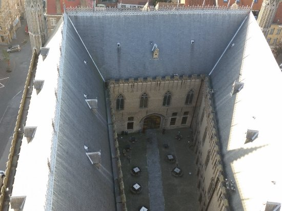 In Flanders Fields Museum: CLIMBED MANY STEPS TO LOOK DOWN