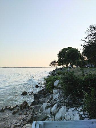 A Water's Edge Retreat Resort: Evening from deck