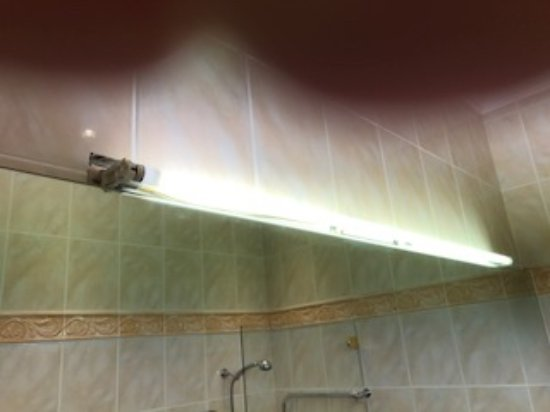 Bathroom Light With No Cover And Wires Exposed Picture Of Golf