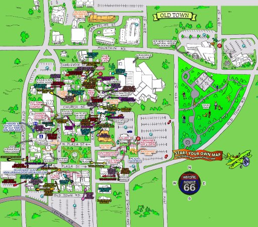 The Official Old Town Albuquerque Cute & Free Shop & Stroll Map!!!!