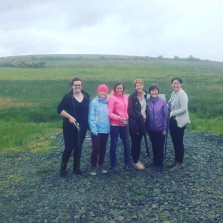 Ennis, Ireland: ladies day out on range shooting some clays