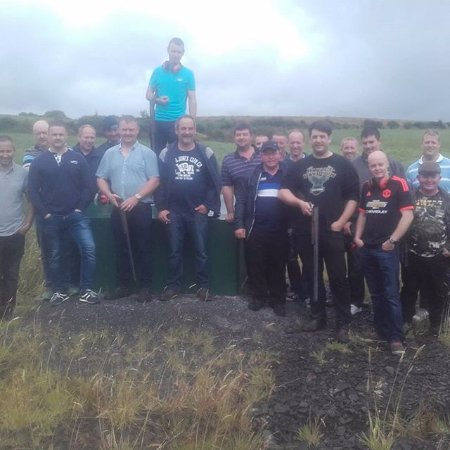Ennis, Ierland: big group booking for some clay shooting fun