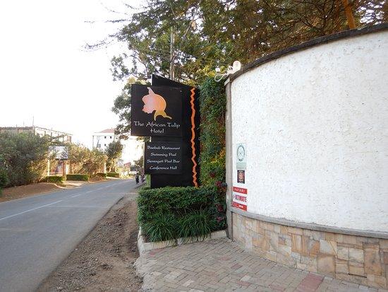 ジ アフリカン チューリップ ホテル, 道路沿い看板