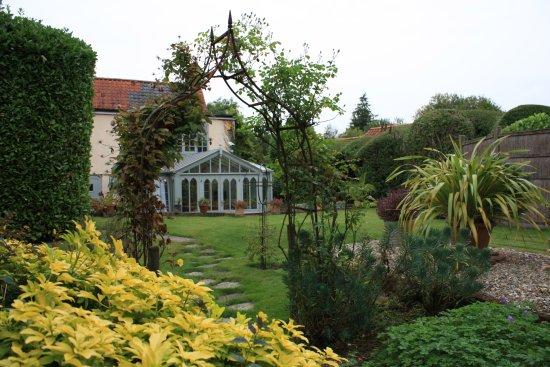 Thursford Green, UK: conservatory from garden