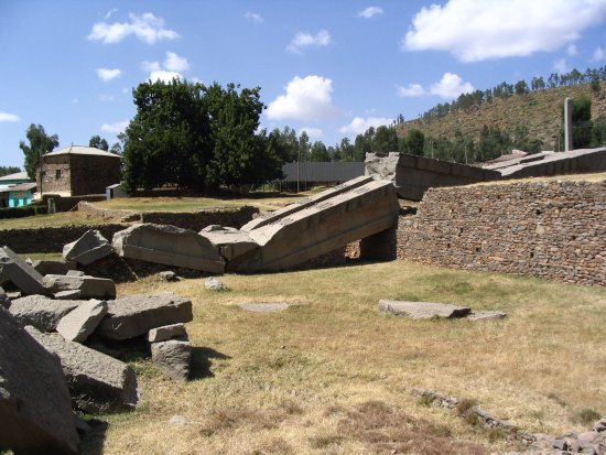 The Ruins of Aksum: The collapsed Obelisk of Axum